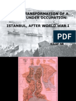Urban Transformation of a Capital Under Occupation - Istanbul After World War I