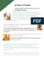 Story Telling Script - Pied Piper of Hamelin