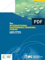 2nd International Sustainable Banking Forum - Lagos, Nigeria, March 2-4, 2014