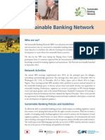 Sustainable Banking Network Brochure