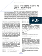Study of Effectiveness of Courbons Theory in the Analysis of T Beam Bridges