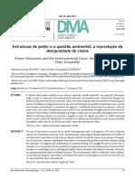 2014 Estruturas de Poder e a Questão Ambiental - A Reprodução Da Desigualdade de Classe Des, e M.a.