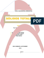 SÓLIDOS TOTALES INFORME