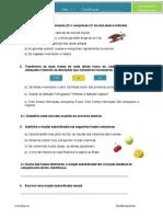 Frases Coordenadas e Subordinadas -exercícios