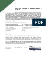 Fabricacion de Tuberia de Hierro Ductil y Piezas Especiales
