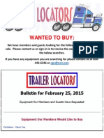 Wanted to Buy - February 25, 2015