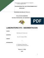Lab 2 - Sedimentacion