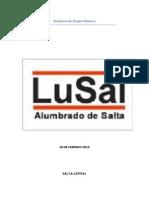 LuSal Alumbrado Publico Salta