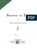 Schmitt Sonatine Score