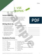 Writing Sample ESLlibrary :Apostrofes