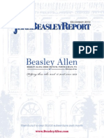The Jere Beasley Report, Dec. 2012