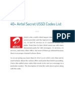 Airtel Secret USSD Codes List