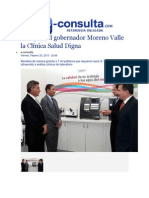 20-02-2015 E-Consulta,Com - Inaugura El Gobernador Moreno Valle La Clínica Salud Digna