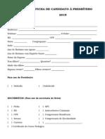 Ficha Do Candidato a Presbítero