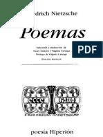 Friedrich Nietzsche - Poemas Edición Bilingüe - Poesía Hiperión
