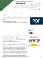 72 Persen Keluarga Indonesia Pengguna Sepeda Motor — Kompas