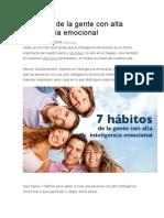 7 Hábitos de La Gente Con Alta Inteligencia Emociona1