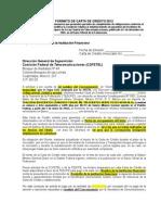 Modelo Carta de Credito 2012