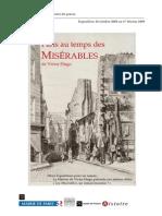 Dossier de Presse Exposition Les Miserables Carnavalet Septe