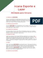 1- Gincana Esporte e Lazer