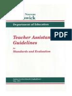 teacher assistant guidelines 1994