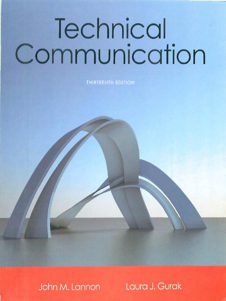Technicalmunication (13th Edition)  Technicalmunication  Rmation Literacy