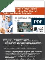 Hukum Kesehatan Dalam Pasien Safety