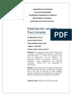 Destilacion Simple Fraccionada