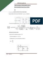 amplificador en baja frecuencia circuitos electronicos informe finalº