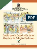 CARTILLA  CAPACITACION ELECTORAL