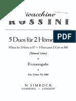 Rossini - Horn Duets