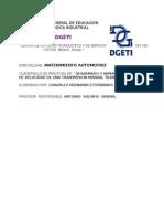 Desarmado y Armado de Los Trenes de Velocidad de Una Transmision Manual Transversal