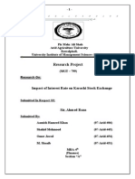 Impact of Interest Rate on Stock Exchange Research Final (MGT-799)