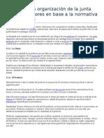 Análisis de La Organización de La Junta de Consumidores en Base a La Normativa Legal Vigente