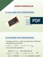 Ecuaciones No Homogeneas
