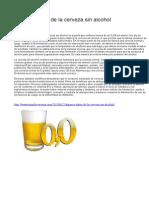 Algunos Datos de La Cerveza Sin Alcohol