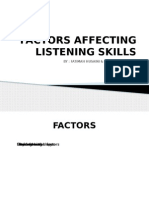 Factors Affecting Listening Skills
