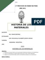historia de los materiales  umsa