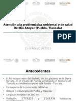 Atención de la problemática ambiental y de salud del río Atoyac