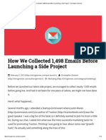 How We Collected 1,498 Emails Before Launching a Side Project - Christopher Gimmer