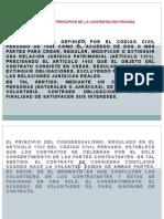 EL CONTRATO Y LOS PRINCIPIOS DE LA CONTRATACIÓN PRIVADA