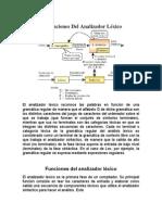 5.1 Funciones Del Analizador Lexico