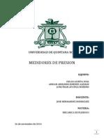 Medidores de Presion - Mecanica de Fluidos (Proyecto)
