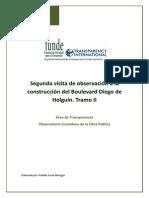 Informe de La Segunda Visita de Observacion a La Construccion Del Boulevard Diego de Holguin. Julio 2012