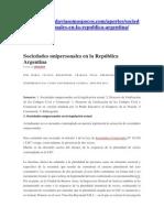 Las sociedades unipersonales en proyecto. Argentina.pdf