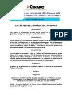 Reforma a la Ley que conmemora el Dia Nacional de Conflicto Armado InternoD048-2008.pdf