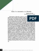 Zucchi - Sobre Los Sistemático en Filosofía