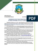 2015 Seabrook Lucky Trail Marathon Pre-Race Press Release
