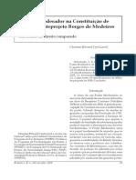 A influência do pensamento liberal de Benjamin Constant na formação do Estado Imperial Brasileiro