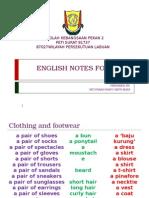 English Notes for UPSR 2015